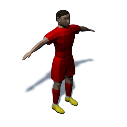 Rendering of the new player model